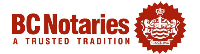 BC Notaries - A Trusted Tradition